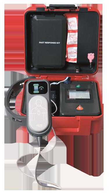 Afb. HeartStart FR3 – hardcase koffer (inclusief QCPR-meter/Baby-kindsleutel/Fast Response-kit